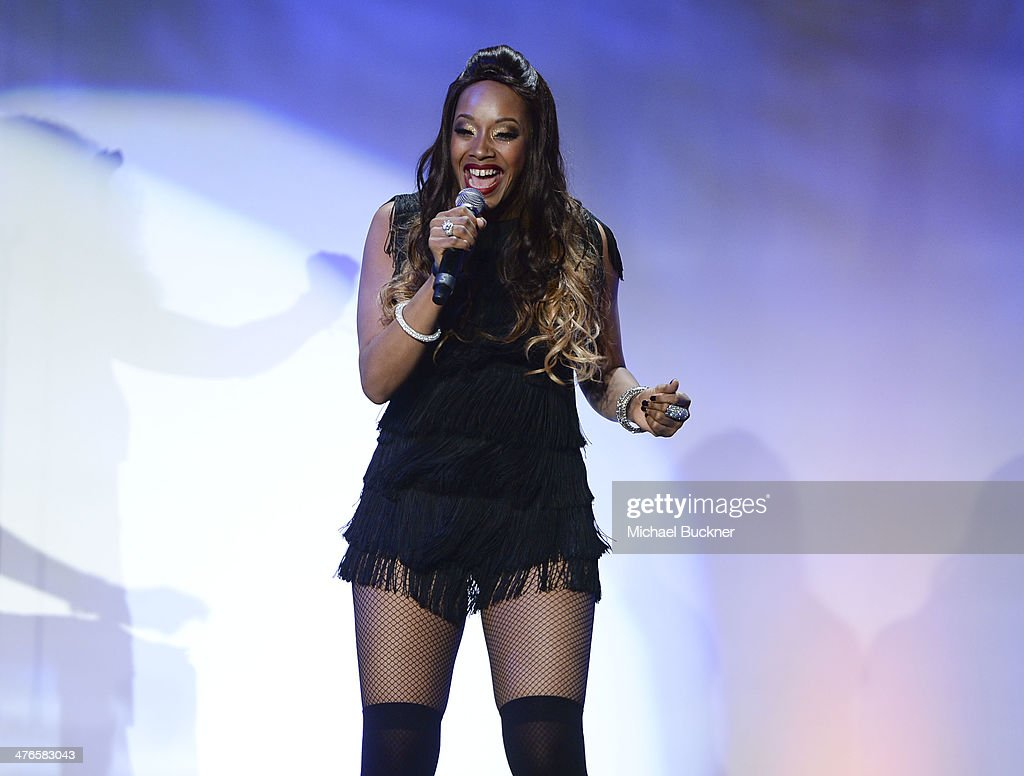 Sadako Johnson of the Pointer Sisters performs at the Venice Family Clinic's 32nd Annual Silver Circle Gala at The Beverly Hilton Hotel on March 3, 2014 in Beverly Hills, California.