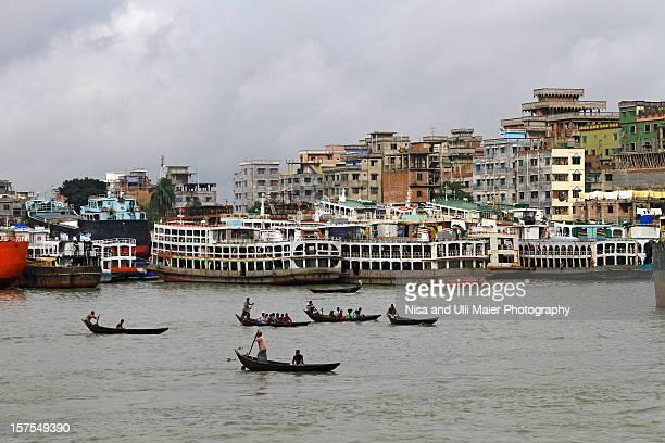 Sadarghat harbour in Dhaka, Bangladesh.