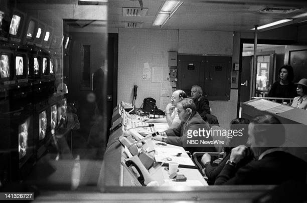 NBC NEWS 'Sadat's Visit to Israel Henry Kissinger Edwin Newman Discussion' Aired 1977 Pictured NBC News Crew in the control booths Photo by NBC...