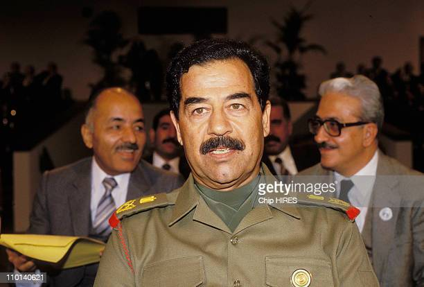 Saddam Hussein in Amman Jordan on November 11 1987