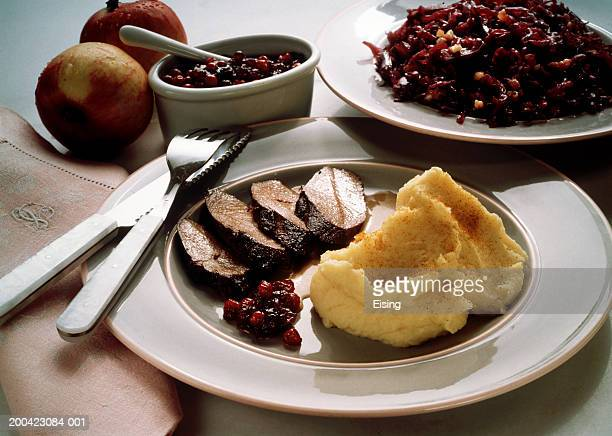 Saddle of Venison with Cranberries