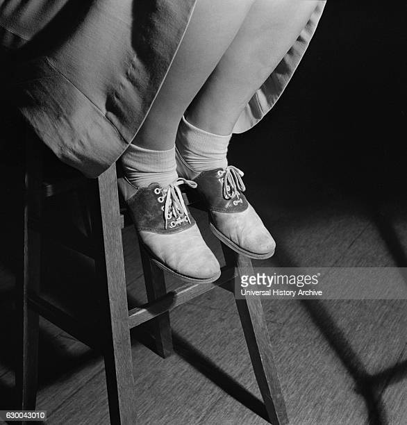 Saddle Shoes of High School Teenage Girl Washington DC USA Esther Bubley for Office of War Information October 1943