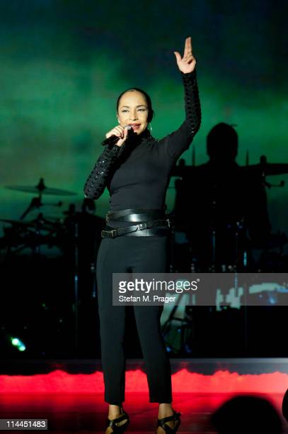 Sade Adu performs on stage at Olympiahalle on May 19 2011 in Munich Germany