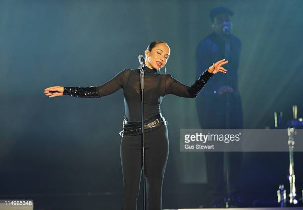 Sade performs on stage at O2 Arena on May 31 2011 in London United Kingdom
