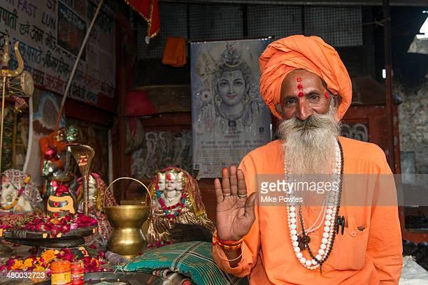 Sadhu at temple, Pushkar, India