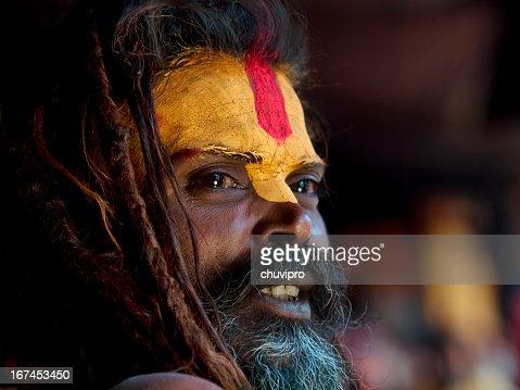 Sadhu portrait : Stock Photo