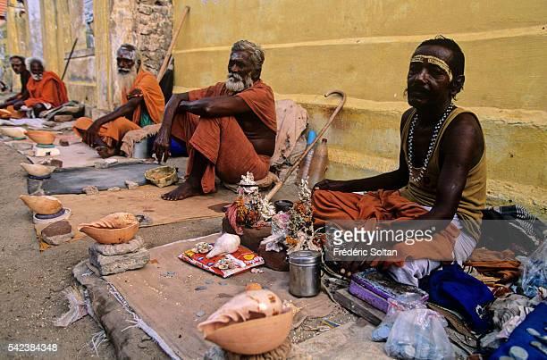 Sadhus in Holy City of Rameswaram