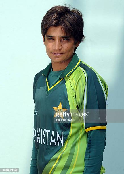 Sadia Yousaf of Pakistan attends a portrait session ahead of the ICC Womens World Cup 2013 at the Barabati stadium on January 31 2013 in Cuttack India