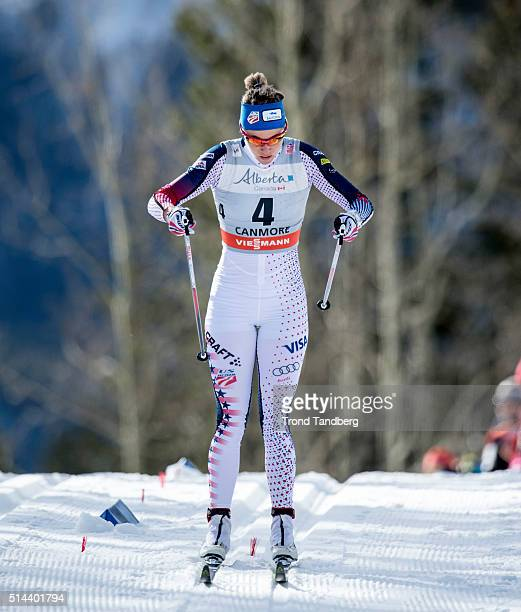 Sadie Bjornsen during Cross Country Ladies 15 km Sprint Classic on March 08 2016 in Canmore Alberta Canada