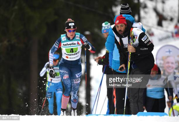 Sadie Bjornsen of the United States competes during the Women's Cross Country 4x5km Relay at the FIS Nordic World Ski Championships on March 2 2017...