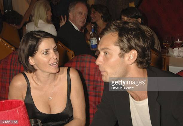 Sadie Frost and actor Jude Law attend the Robert Mapplethorpe 'Still Moving and Lady' exhibition after party at the Dorchester on September 7 in...
