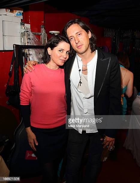 Sadie Frost and Carl Barat attend the 'Little Episodes' book launch at Madame Jojo's on April 18 2013 in London England
