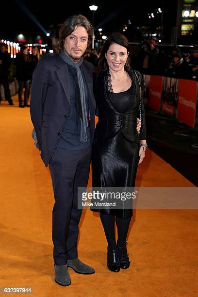 Sadie Frost and Darren Strowger attend the 'T2 Trainspotting' world premiere on January 22 2017 in Edinburgh United Kingdom