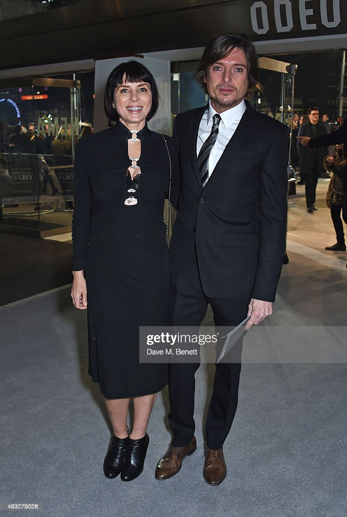 Sadie Frost and Darren Strowger attend the UK Premiere of 'Fifty Shades Of Grey' at Odeon Leicester Square on February 12 2015 in London England