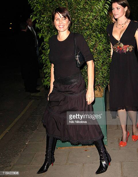 Sadie Frost and Holly Davidson during American and British Vogue London Fashion Week Cocktail Party February 17 2006 at Luciano in London Great...