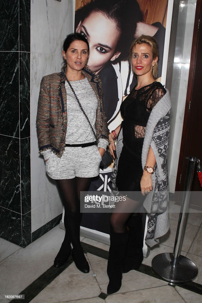 Sadie Frost and Lisa Dwan attend the OnePiece autumn/winter 2013 launch party at Kensington Roof Gardens on September 27 2013 in London England