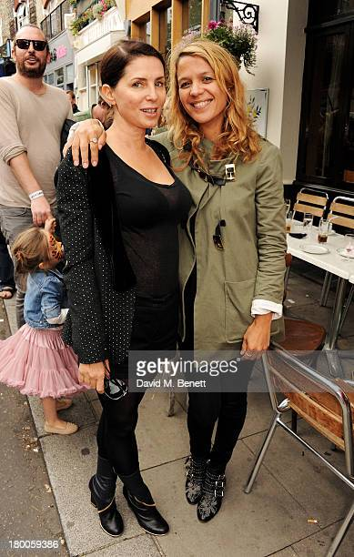 Sadie Frost and Lisa Moorish attend the Primrose Hill Festival on September 8 2013 in London England
