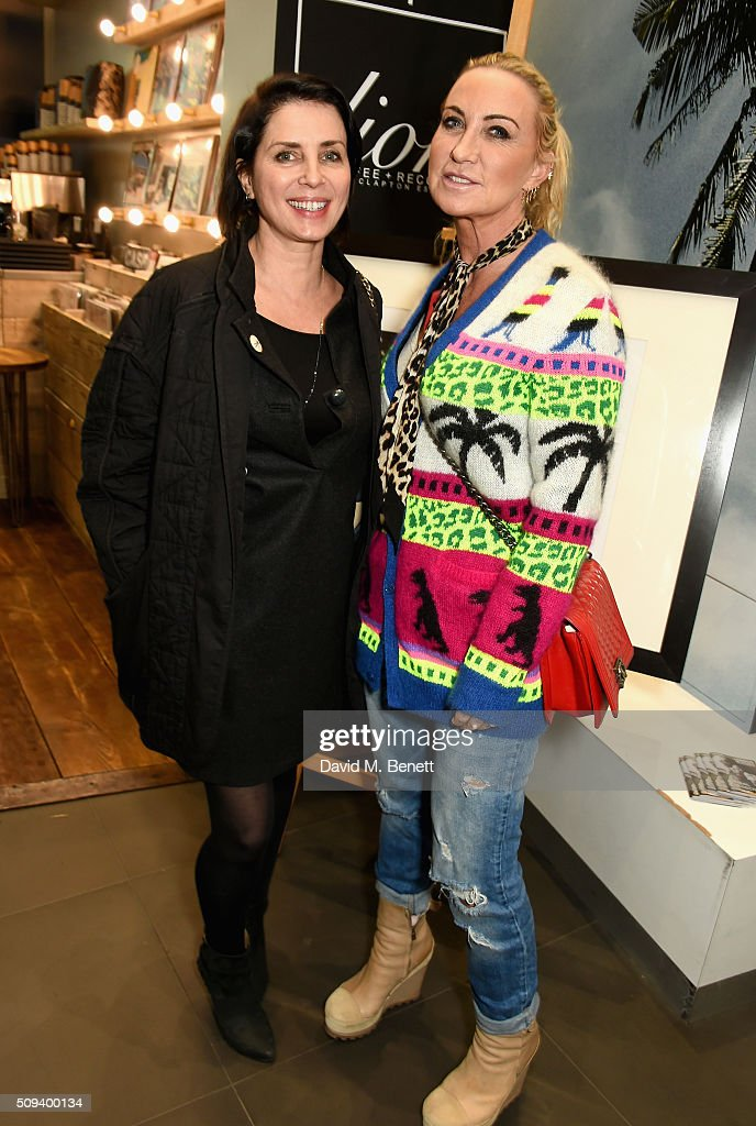 Sadie Frost and Meg Matthews attend the Gap Partnership with Lion Coffee + Records Launch Party at Gap Flagship Store, Oxford Street on February 10, 2016 in London, England.