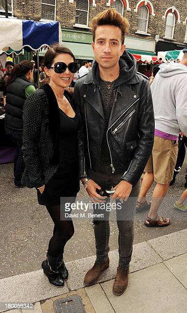 Sadie Frost and Nick Grimshaw attend the Primrose Hill Festival on September 8 2013 in London England