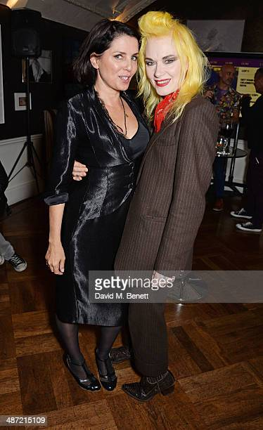 Sadie Frost and Pam Hogg attend The Hepatitis C Trust's Bingo Night at The Groucho Club on April 28 2014 in London England