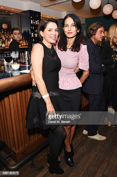 Sadie Frost and Yasmin Mills attend the after party following the UK Premiere of 'Buttercup Bill' at The Groucho Club on September 1 2015 in London...