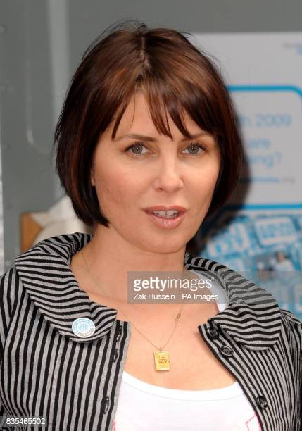 Sadie Frost arrives at the first ever GET TESTED Bus for World Hepatitis Day 2009 in Leicester Square central London