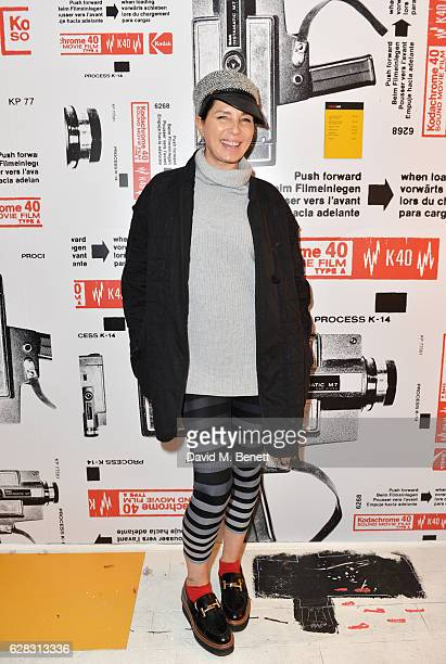 Sadie Frost attends a private view of artist Tom Beard's photography exhibition presented by Kodak Blonde To Black Pictures at The Kodakery on...