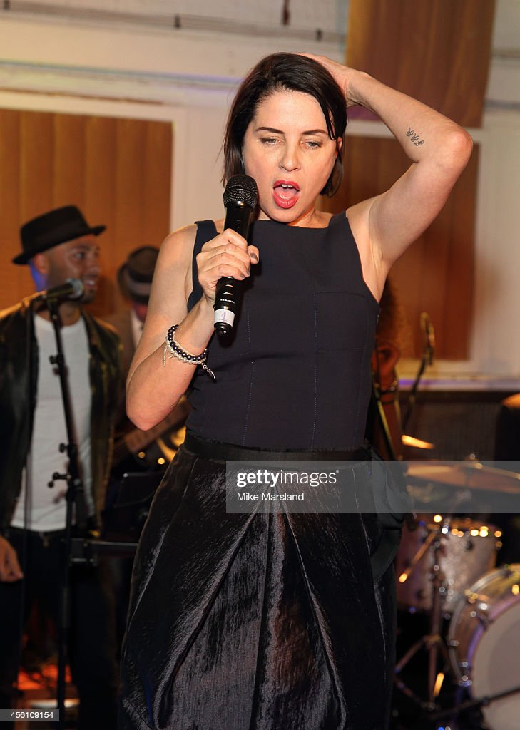 Sadie Frost attends One For The Boys #SingOne4TheBoys Karaoke Night at Abbey Road Studios on September 25 2014 in London England