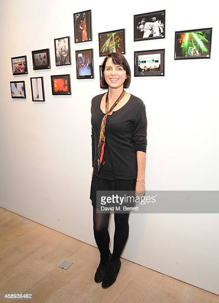 Sadie Frost attends the 'Art On A Postcard' auction in aid of The Hepatitis C Trust at Whitfield Fine Art on November 13 2014 in London England