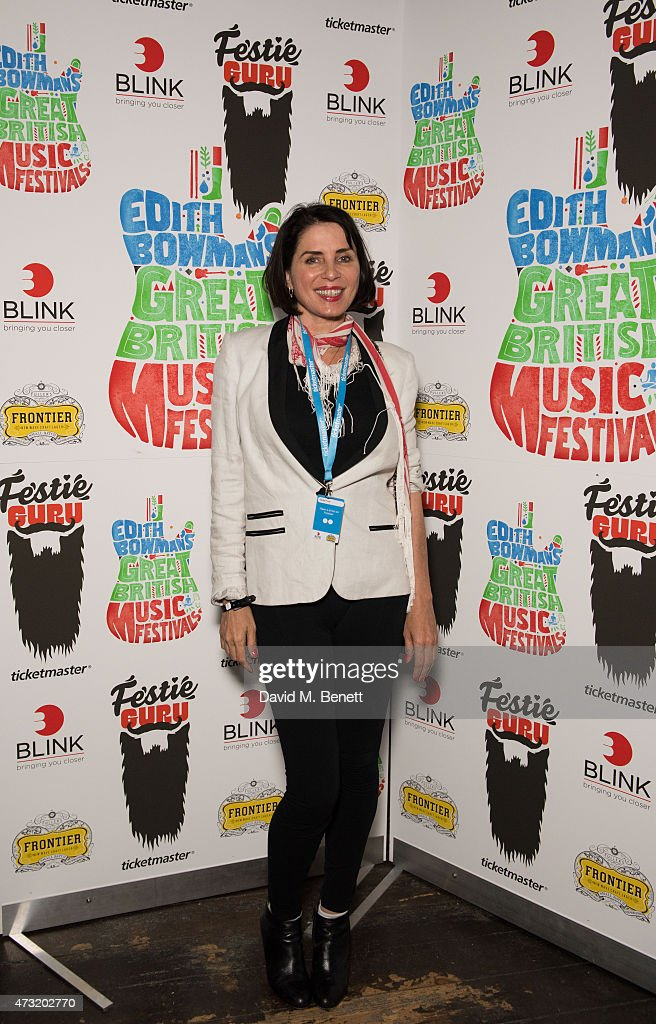 <a gi-track='captionPersonalityLinkClicked' href=/galleries/search?phrase=Sadie+Frost&family=editorial&specificpeople=201927 ng-click='$event.stopPropagation()'>Sadie Frost</a> attends the launch of Edith Bowman's new book 'Great British Music Festivals' in association with Ticketmaster Festie Guru at The Stag on May 13, 2015 in London, England.