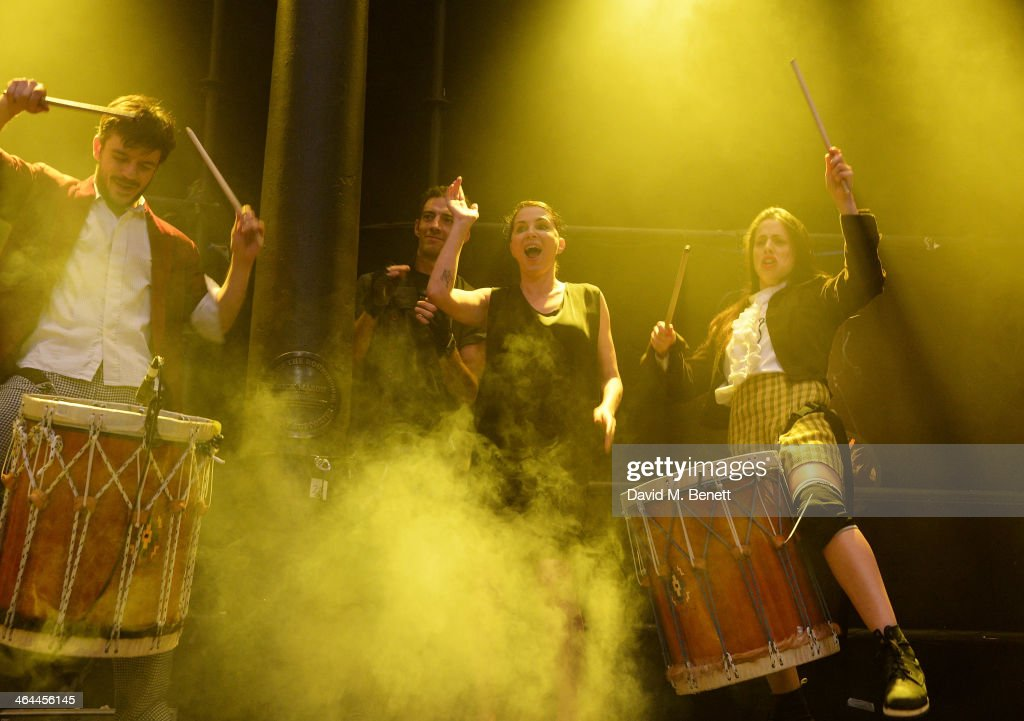 Sadie Frost celebrates her performance with FUERZABRUTA at The Roundhouse on January 22 2014 in London England