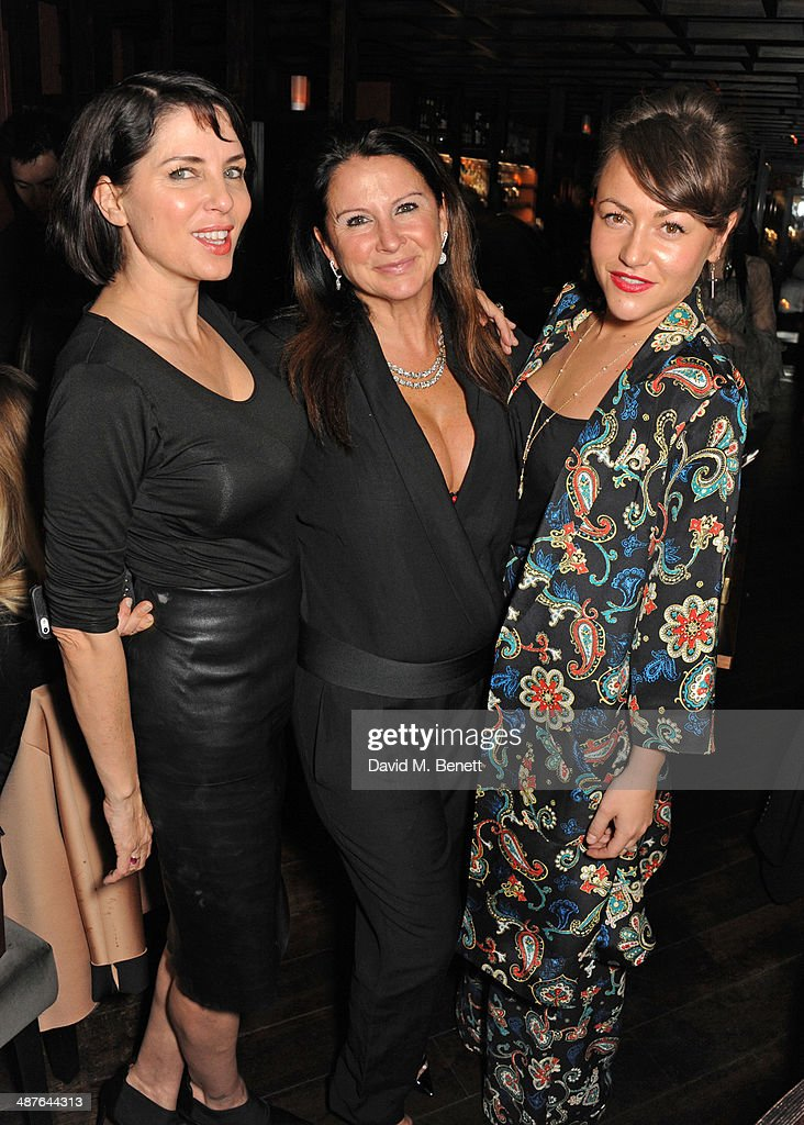 Sadie Frost Fran Cutler and Jaime Winstone attend Fran Cutler's birthday dinner at Bo Lang on May 1 2014 in London England