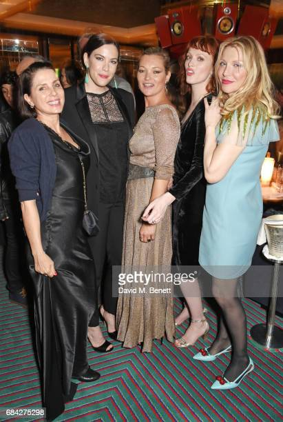 Sadie Frost Liv Tyler Kate Moss Karen Elson and Courtney Love attend a private dinner celebrating the launch of the KATE MOSS X ARA VARTANIAN...