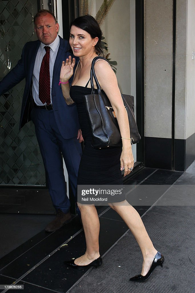 Sadie Frost seen arriving at The Ivy Club on July 18, 2013 in London, England.
