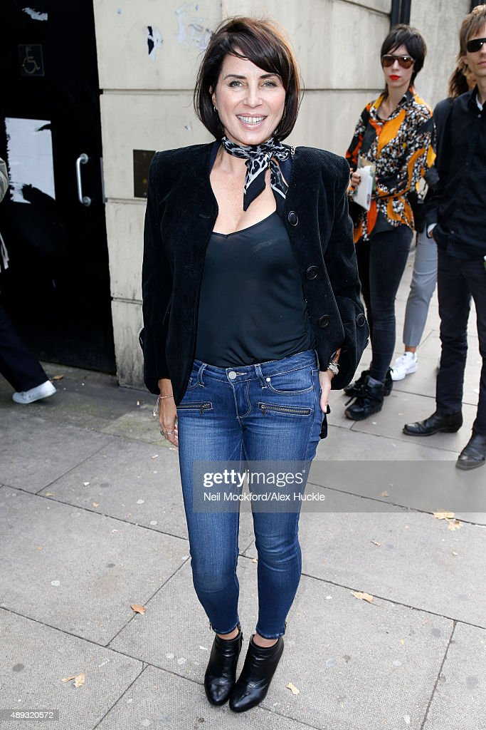 Sadie Frost seen arriving at the Vivienne Westwood Red Label S/S catwalk show on September 20 2015 in London England Photo by Neil Mockford/Alex...