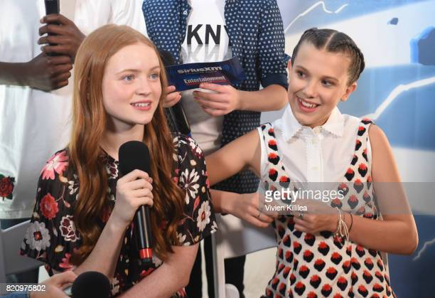 Sadie Sink and Millie Bobby Brown attend SiriusXM's Entertainment Weekly Radio Channel Broadcasts From Comic Con 2017 at Hard Rock Hotel San Diego on...