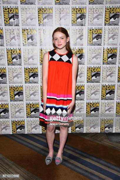 Sadie Sink attends the 'Stranger Things' press conference at ComicCon International 2017 on July 22 2017 in San Diego California