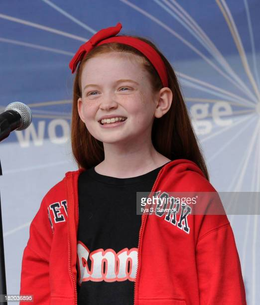 Sadie Sink performs at Broadway On The Hudson at Brookfield Place Waterfront Plaza on September 27 2013 in New York City