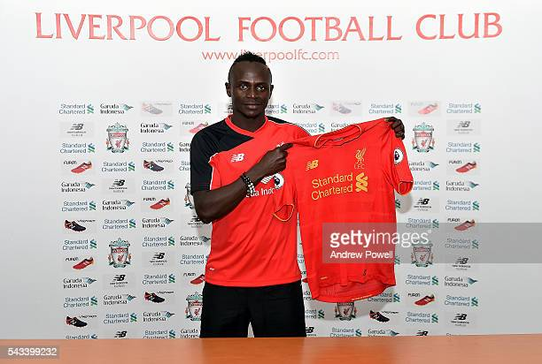 Sadio Mane new signing of Liverpool at Melwood Training Ground on June 28 2016 in Liverpool England
