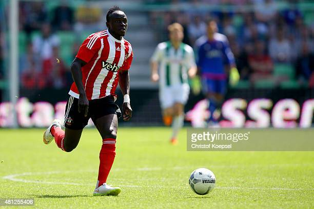 Sadio Mane of FC Southampton runs with the ball during the friendly match between FC Groningen and FC Southampton at Euroborg Arena on July 18 2015...