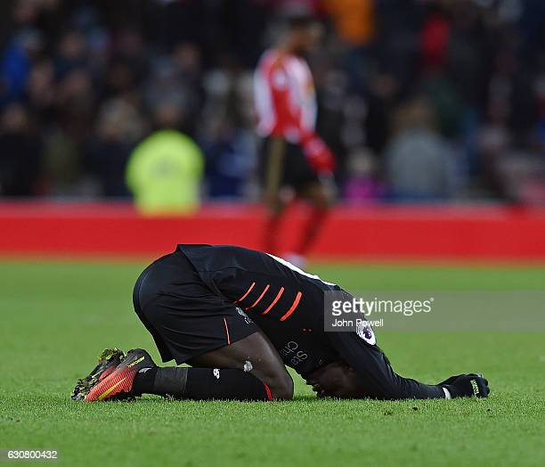 Sadio Mane of Liverpool dejected during the Premier League match between Sunderland and Liverpool at Stadium of Light on January 2 2017 in Sunderland...