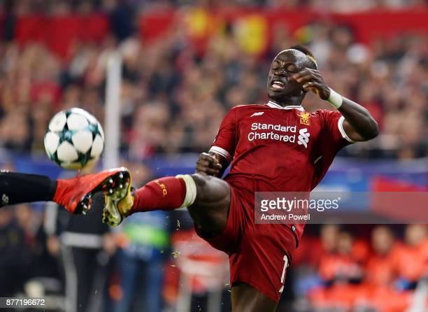 Sadio Mane of Liverpool during the UEFA Champions League group E match between Sevilla FC and Liverpool FC at Estadio Ramon Sanchez Pizjuan on...