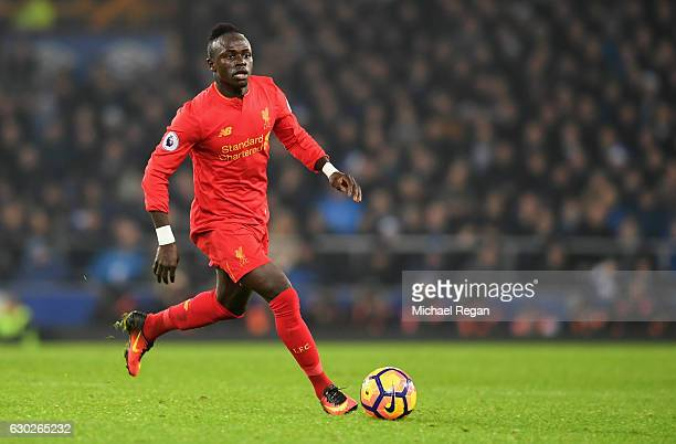 Sadio Mane of Liverpool in action during the Premier League match between Everton and Liverpool at Goodison Park on December 19 2016 in Liverpool...