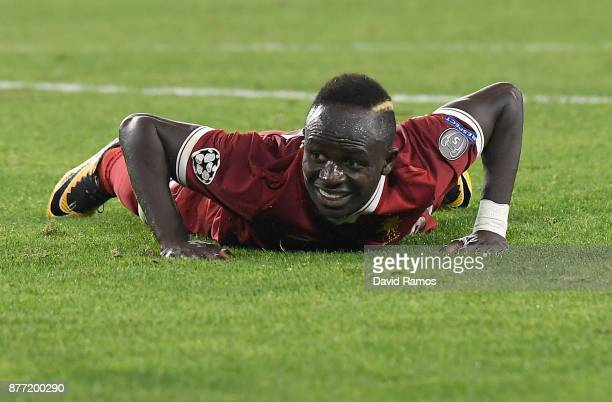 Sadio Mane of Liverpool looks on during the UEFA Champions League group E match between Sevilla FC and Liverpool FC at Estadio Ramon Sanchez Pizjuan...