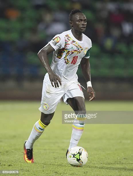 Sadio Mane of Senegal during the Group B match between Senegal and Zimbabwe at Stade Franceville on January 19 2017 in Franceville Gabon