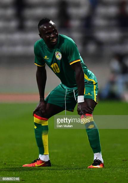 Sadio Mane of Senegal looks on during the International Friendly match between the Ivory Coast and Senegal at the Stade Charlety on March 27 2017 in...
