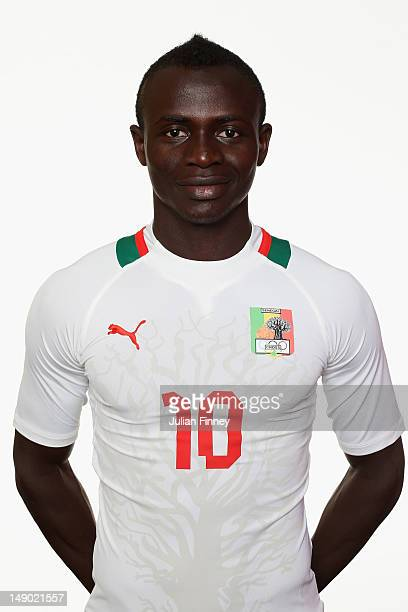 Sadio Mane of Senegal poses during a portrait session on July 22 2012 in Manchester England