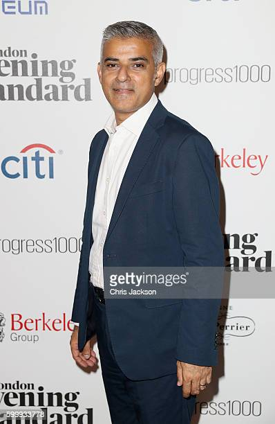 Sadiq Khan attends London Evening Standard's Progress 1000 at Science Museum on September 7 2016 in London England