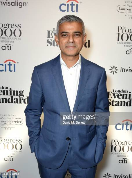 Sadiq Khan attends The London Evening Standard's Progress 1000 London's Most Influential People in partnership with Citi on October 19 2017 in London...