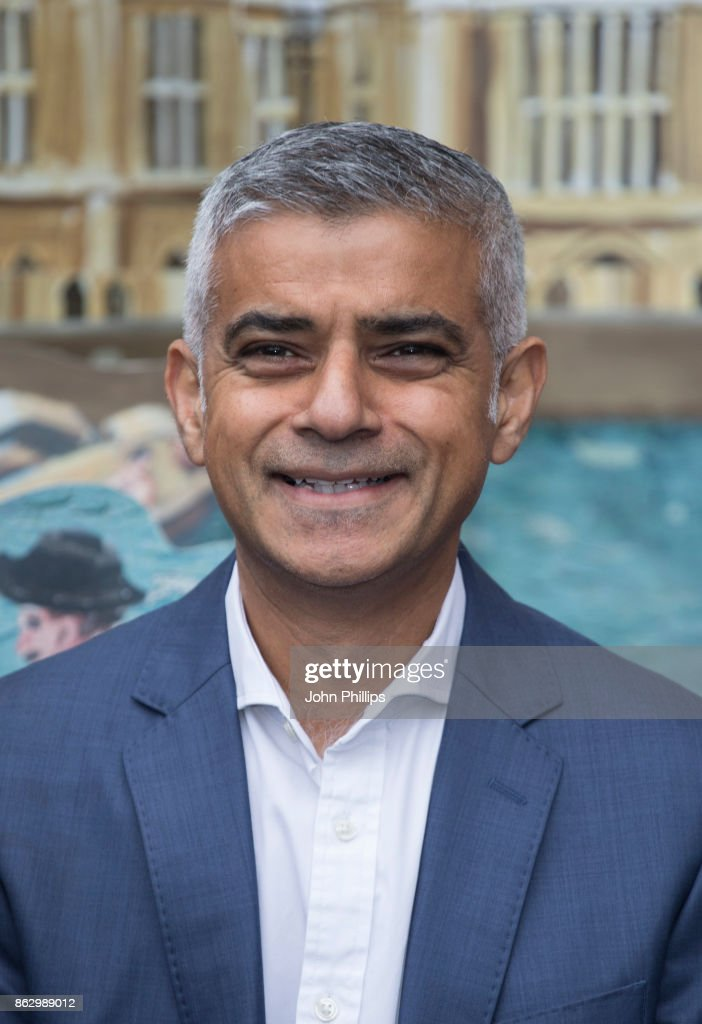 Sadiq Khan attends the Paddington's Pop-Up London launch at More London on October 19, 2017 in London, England.